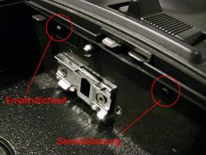Abtaststifte in einer Super-8-Kamera
