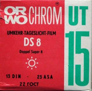 Orwo Chrom UT15 Doppel Super 8