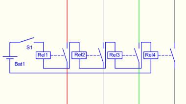 Schaltplan USB-Schalter mit Relais
